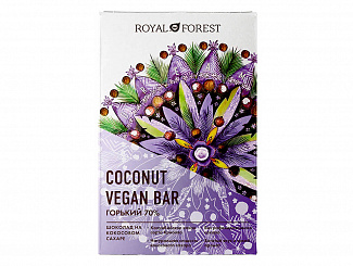 Веганский горький шоколад 70% Vegan Coconut Bar, 50 гр