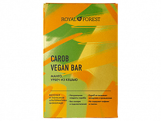 ROYAL FOREST CAROB VEGAN BAR Манго, урбеч из кешью