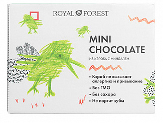 MINI CHOCOLATE из кэроба с миндалем 30 гр. х 4 шт.